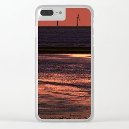 River Alt and the wind farm Clear iPhone Case