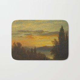 Albert Bierstadt - On the Hudson River near Irvington (1868) Bath Mat