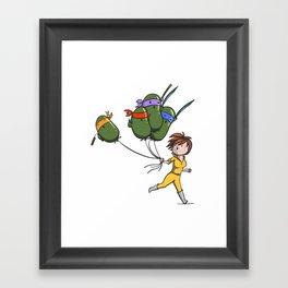 TMNT Balloons! Framed Art Print