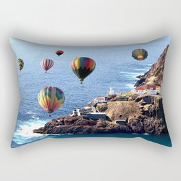 Flying Colorful Hot air Balloons over Newfoundland Rectangular Pillow