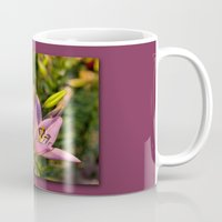lily Mugs featuring lily by Karl-Heinz Lüpke