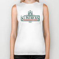 ale giorgini Biker Tanks featuring St. Patrick's Irish Ale by Nº3 Designs
