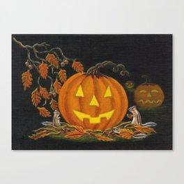 Autumn's Surprise Halloween art print Canvas Print
