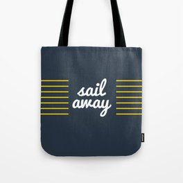 Sail Away Nautical Print Tote Bag