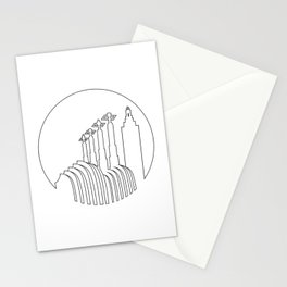 Kansas City - Minimalist Line Art Skyline Stationery Cards