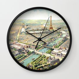 Paris World Fair 1900 Wall Clock