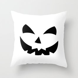 Scary Pumpkin Face Throw Pillow