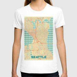 Seattle Map Retro T-shirt