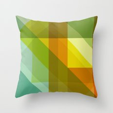 Sunny Facets Throw Pillow