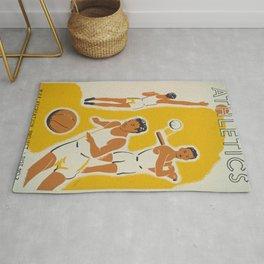Vintage athletics poster Rug