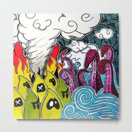 Chaos Doodles Metal Print