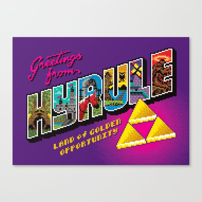 Greetings from Hyrule Canvas Print