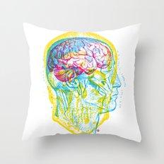 Anatomy Skull Throw Pillow