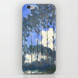 Monet : Poplars on the River Epte iPhone Skin