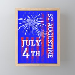 St Augustine FL 4th of July Independence Day Framed Mini Art Print