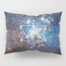 Merkaba in Flower of Life Pillow Sham