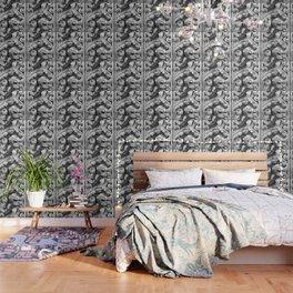 Decorative metalic foliage ornaments Wallpaper