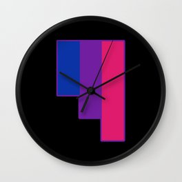 Bisexual and Biromantic Wall Clock