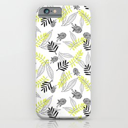 Yellow Gray and Black minimal seamless pattern iPhone Case