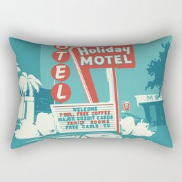 Vintage car and motel sign 50es style Rectangular Pillow