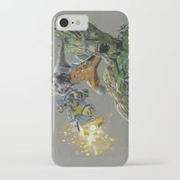 guardians iPhone & iPod Cases featuring Guardians by theMAINsketch