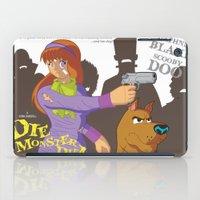 monster inc iPad Cases featuring Mystery Inc. (Die Monster Die! Variant) by William Vega
