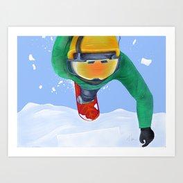 Winter Flight - Drawing 3 Art Print