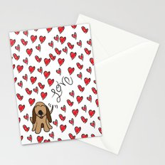 Hound Dog Love Stationery Cards