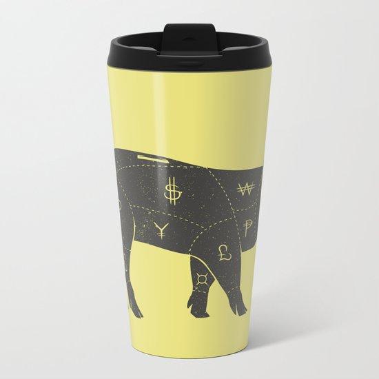 Piggy Bank Metal Travel Mug