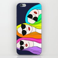 haim iPhone & iPod Skins featuring HAIM by Neon Wonderland