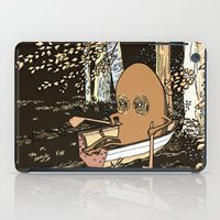 rowing iPad Cases featuring Forest Rowing by Emily Joan Campbell