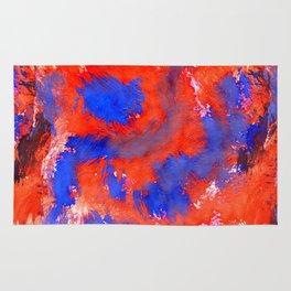 Red Blue Background Rug