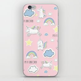 I'm a unicorn - pink iPhone Skin