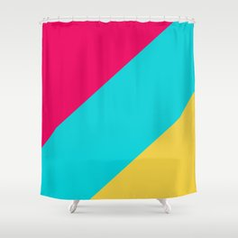 Neon Pastel Stripes Shower Curtain