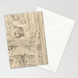 Vintage Pictorial Map of The Grand Canyon (1895) Stationery Cards