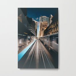 Railway station Metal Print