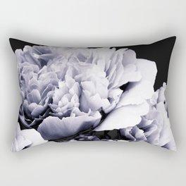 Peony Flower Bouquet Black and White #decor #society6 #buyart Rectangular Pillow