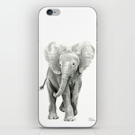 Baby Elephant Watercolor iPhone Skin