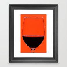 Red Wine Glass Framed Art Print