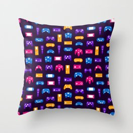 Video Games Pattern   Gaming Console Computer Play Throw Pillow