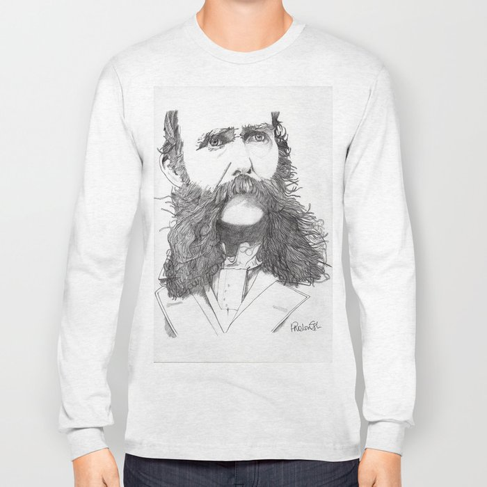 Moustache Long Sleeve T-shirt