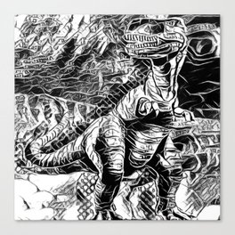 T-Rex Pen and Ink Canvas Print