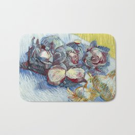 Red Cabbages and Onions by Vincent van Gogh, 1887 Bath Mat