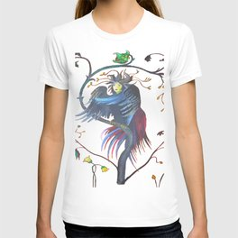 Gamaun Halloween Prophetic Raven Vector T-shirt