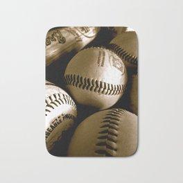 Baseball Days in B&W Bath Mat