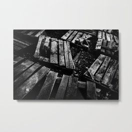 Crumbled Metal Print