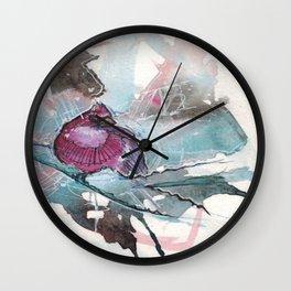 Cardinal watercolor  Wall Clock