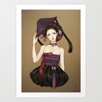 korean Art Prints featuring Korean by Nara Navy