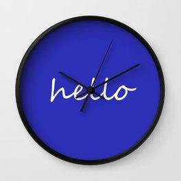Hello blue Wall Clock