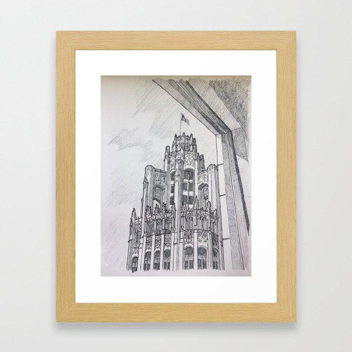 Chicago - Tribune Window Framed Art Print
